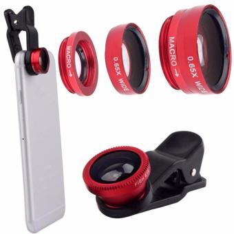 Lens Selfie góc rộng cực đỉnh cho điện thoại, Ipad, laptop (đỏ)