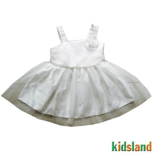 Đầm voan trắng 2 dây AD183