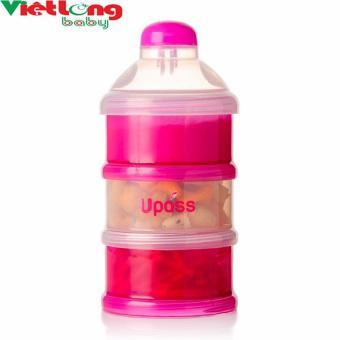 Hộp đựng sữa bột 3 ngăn có nắp lật Upass UP8009NH (Xanh lá nhạt)