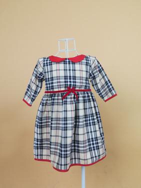 Đầm bé gái Burberry tay lỡ Cuckeokids (26 -30kg)