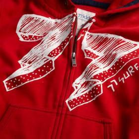 77 lightning strikes zip hoodie