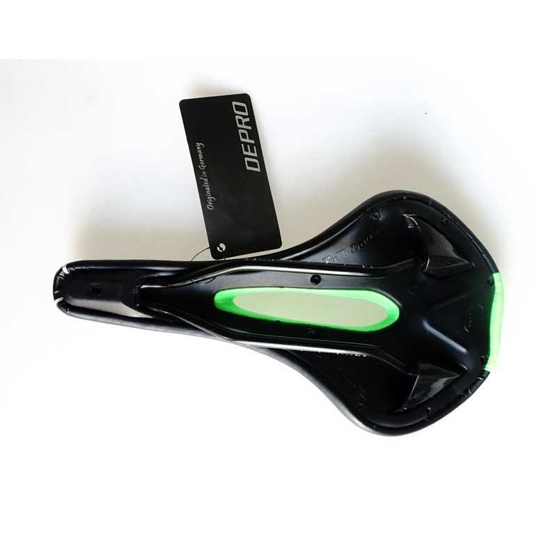 Yên xe đạp DEPRO DS-19BG (đen xanh lá cây)