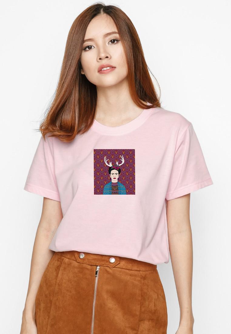 Áo Thun  In Hình Deer Frida