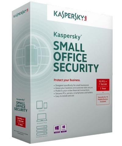 Phần mềm Kaspersky Small office Security 1 file server + 10 PCs( KSOS 1 Server + 10 PC)