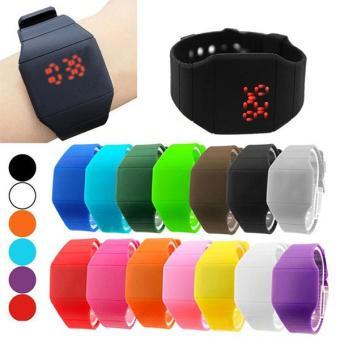 Unisex LED Silicone SmartBand Digital watch Sports Wrist Watch For Men Women (Light Blue)