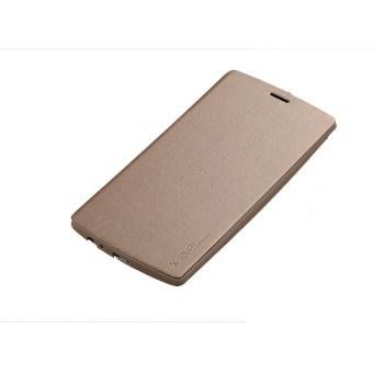 Bao da viền silicone fashion X-level cho LG V10 (Vàng kem)