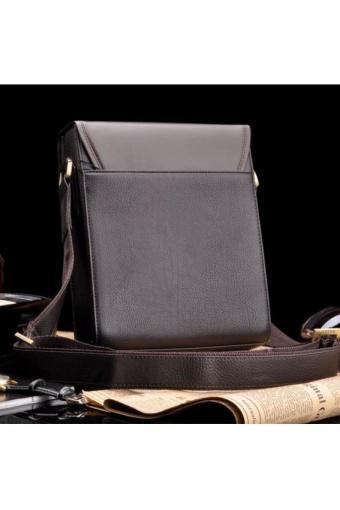 Bộ Đôi Túi Đeo Chéo Zefer Đựng Ipad Và Thắt Lưng Da Hai Mặt Hanama (Nâu Đen)
