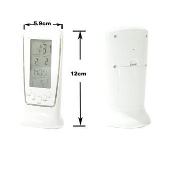 Đồng hồ báo thức kỹ thuật số đèn LED đa chức năng - LC02 (Trắng)