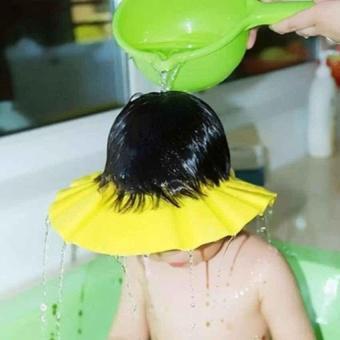 Mũ Gội Đầu, Tắm An Toàn Cho Bé Chỉnh 4 Cỡ (Vàng Chanh)