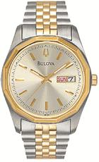 Bulova Bracelet Gold Tone Stainless Steel Mens Watch 98C002