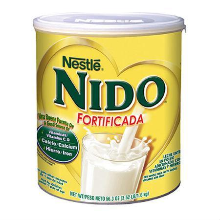 Sữa tươi dạng bột Nestle Nido Fortificada 1,6kg nắp trắng (tăng cân)
