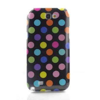 niceEshop Polka Dot Premium TPU Protective Skin Case Shell for Samsung Galaxy Note 2 N7100 (Blue/Whi...