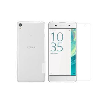 Bộ Ốp lưng silicon Nillkin cho Sony Xperia XA (Trong suốt) và 1 Kính cường lực cho Sony Xperia XA (T...