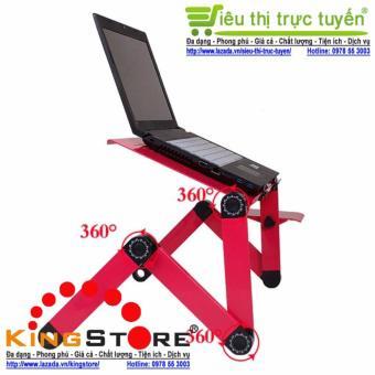 Bàn để Laptop tùy chỉnh đa năng gấp và xoay 360 độ tiện ích cho cuộc sống hiện đại (Đỏ/Hồng) - Siêu ...
