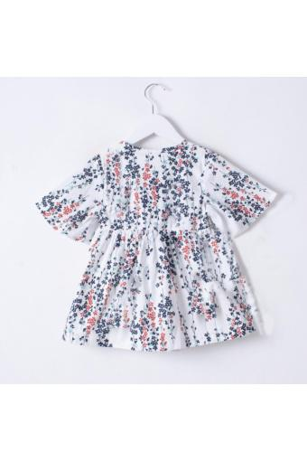 Váy Trắng cotton in ren hoa - Cho bé gái cao 116cm