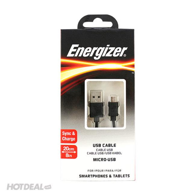Cáp Micro USB Energizer 20cm