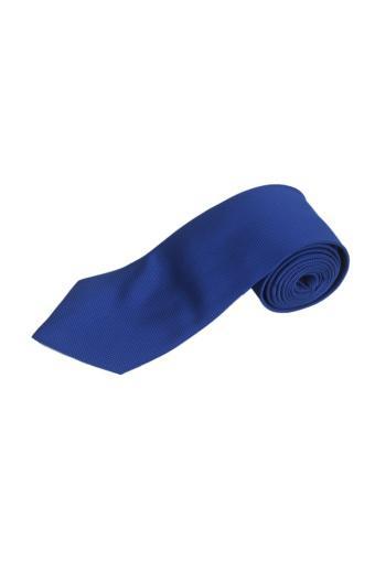 Classic Pure Color 10cm Jacquard Woven Fine Grids Men's Tie Necktie Royal Blue New - Intl