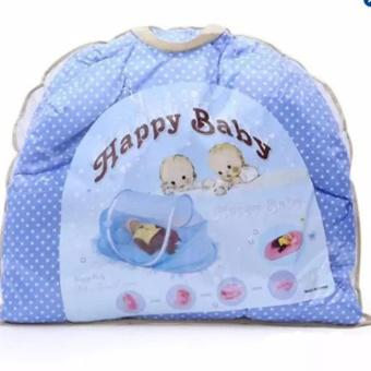 Màn ngủ chống muỗi có phát nhạc cho bé happy baby + Tặng kèm 01 dụng cụ Flashlight earpick (Hồng)
