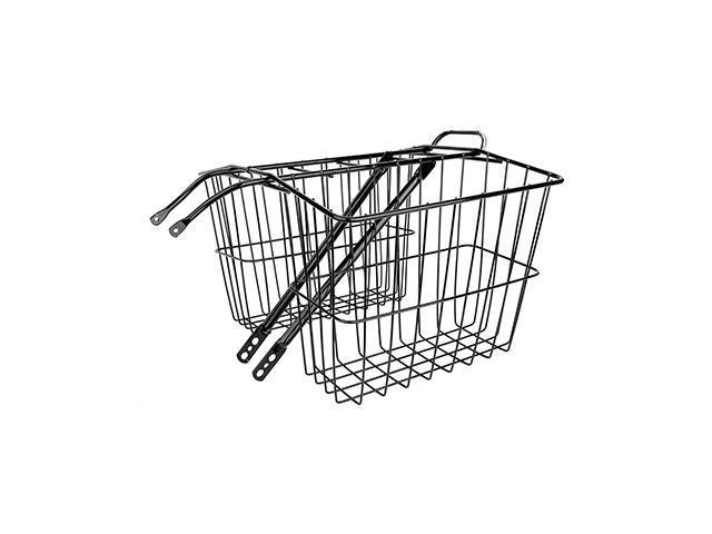 Wald Products Rear Twin Baskets #520, 13.5x6.25x11in, Black