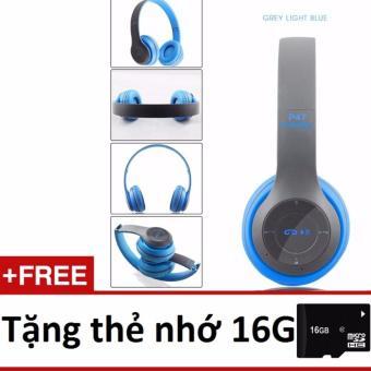 Tai nghe chụp tai cao cấp có khe thẻ nhớ Bluetooth P47 tặng thẻ nhớ 16GB