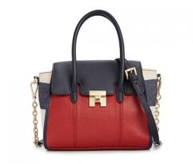 Tommy Hilfiger TH Turnlock Mixed Media Mini Convertible Top Handle