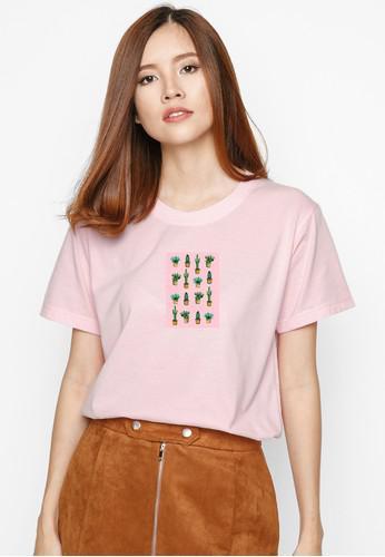 Áo Thun  In Hình Cactus Pink