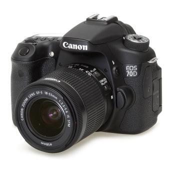Canon EOS 70D với Lens Kit EF-S 18-55mm F3.5-5.6 IS STM (Đen) - Hàng Nhập Khẩu
