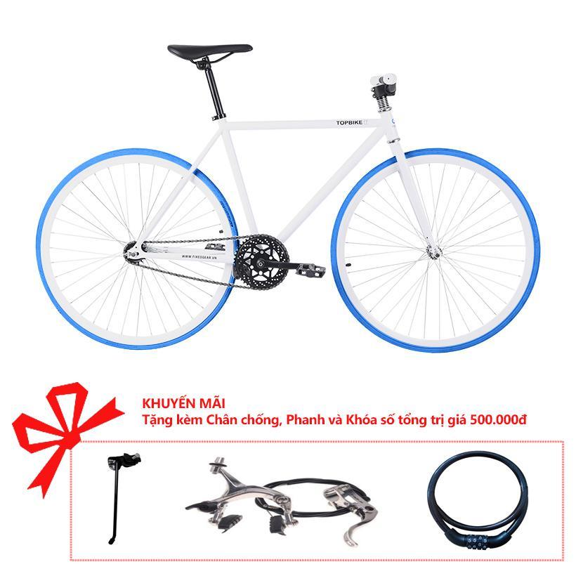 Xe đạp Topbike Alpha khung màu trắng