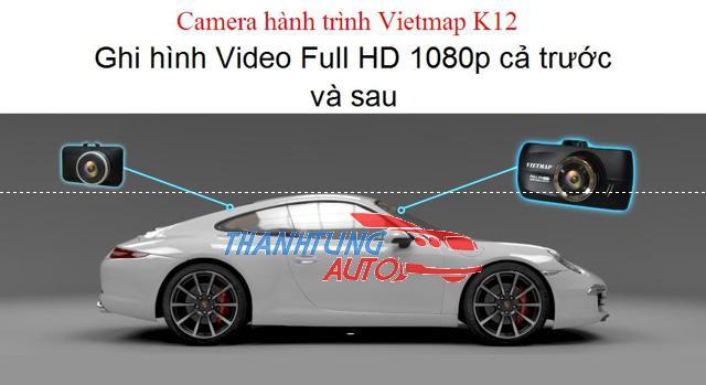 Camera hành trình trước sau Full HD Vietmap K12