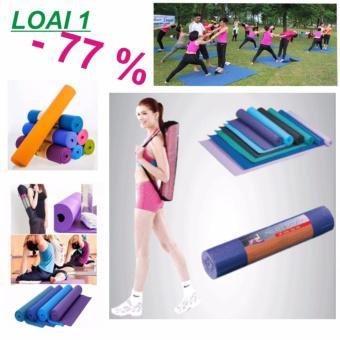Thảm Tập Yoga Loại( 10 mm ) Cao Cấp Có Túi Đựng Sản Xuất 2017 Loại 1 (Nhiều màu) + Nhiệt kế thủy ngâ...