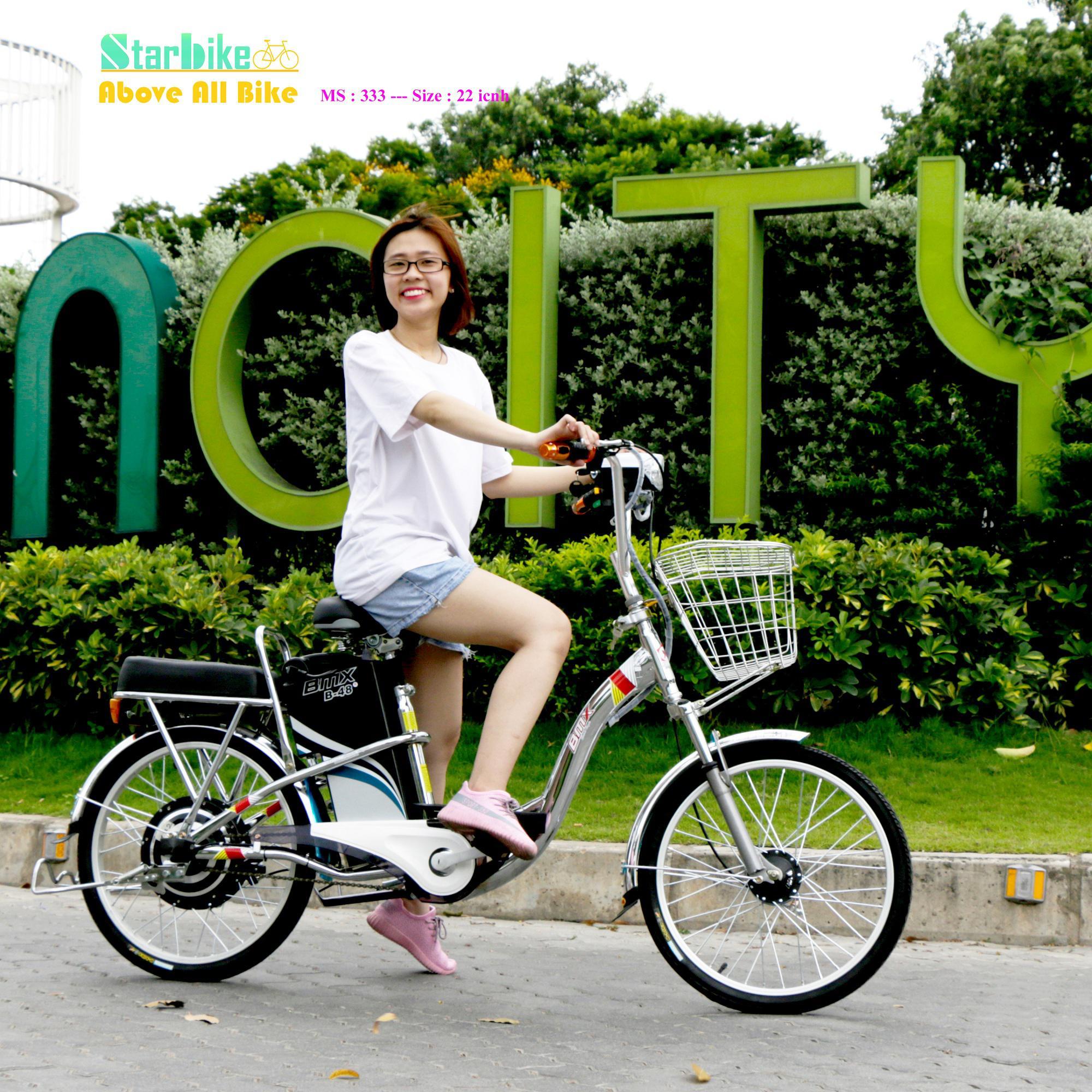 Xe đạp điện inox 304 - 22 icnh bánh căm