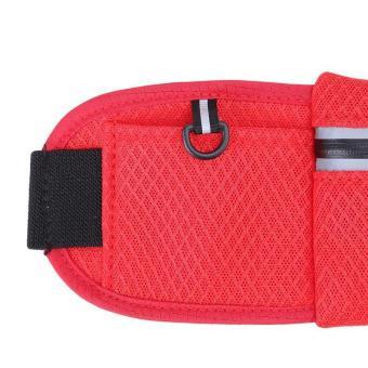 LALANG Mesh Travel Running Sports Multifunctional Waist Bag (Red)