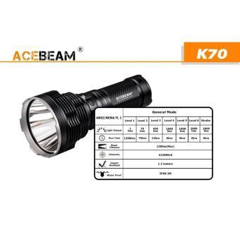 Đèn pin Acebeam K70 bóng Led CREE XHP35 độ sáng 2600 lumen chiếu xa 1300m 4 pin 18650