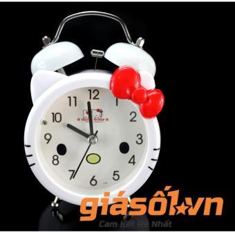 Đồng hồ báo thức để bàn cho bé 17063 (Trắng nơ đỏ)