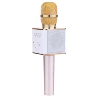 Micro hát Karaoke Q9 kèm Loa Bluetooth 3 trong 1 (Vàng)