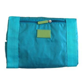 Waterproof Nylon Folding Foldable Home Travel Package Men Women Storage Bag SkyBlue