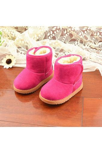 New Infant Toddler Baby Girls Boots Boys Kids Winter Thick Snow Boots Fur Shoes - intl