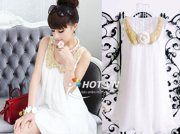 Váy bầu cổ Peter Pan XD 0715