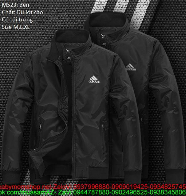 Áo khoác thể thao cặp  màu đen cá tính cAKC160