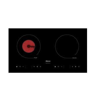 Bếp hỗn hợp một điện một từ, mặt kính Vitroceramic BI-203-DT + Tặng miếng chắn dầu mỡ bếp (Đen)