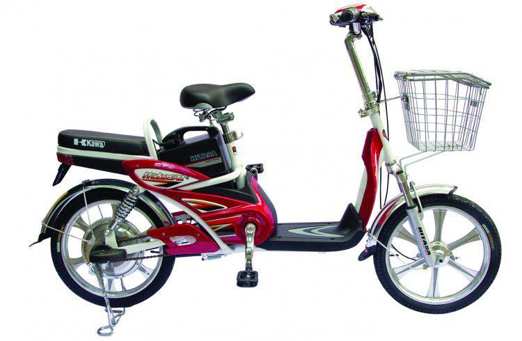 Xe đạp điện Hitasa @ màu đỏ