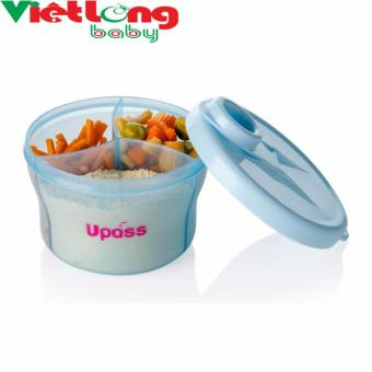 Hộp chia sữa tròn Upass UP8006NT (Xanh dương nhạt)