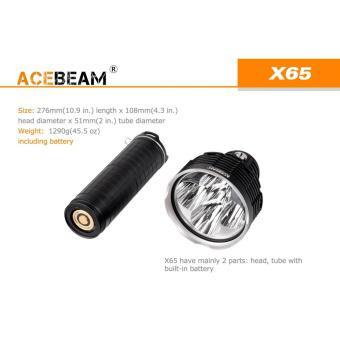 Đèn pin sạc ACEBEAM X65 độ sáng 12000 lumen chiếu xa 1301m 5 bóng LED CREE XHP35 pin tích hợp liền t...