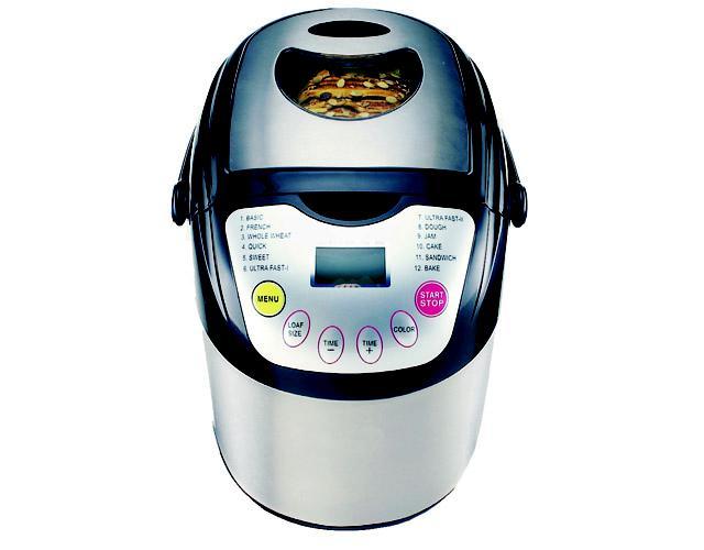 Máy làm bánh mỳ Tiross 12 chức năng, thân inox, 600W