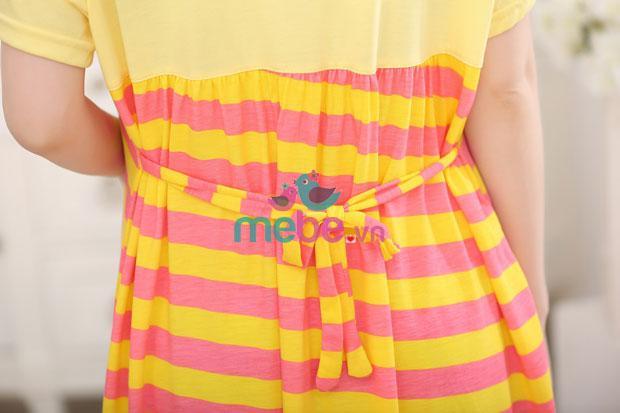 Váy bầu kẻ ngang kết hợp cho con bú MB1531