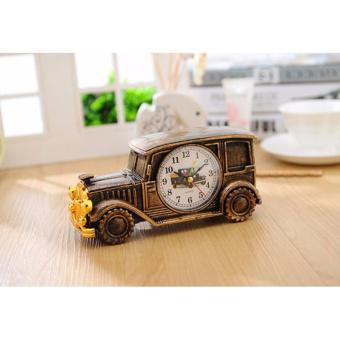 Đồng hồ báo thức - đồng hồ để bàn làm việc (Nâu)