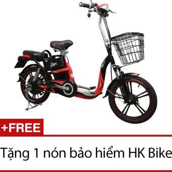 Xe đạp điện HK Bike ZINGER COLOR (Đỏ phối đen) + Tặng 1 nón bảo hiểm HK Bike