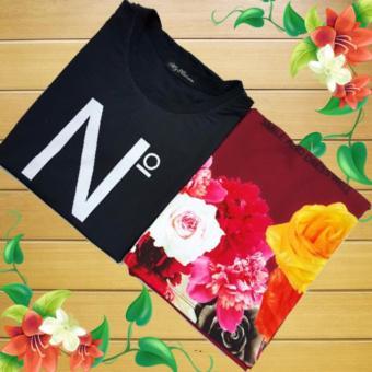 Áo Thun Nữ Họa Tiết Hoa Hồng_GS075 Tặng áo thun thời trang