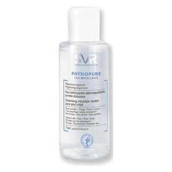Dung dịch rửa mặt, tẩy trang dạng vi hạt (mixen) dành cho mặt, vùng mắt và môi SVR 75ml Physiopure E...