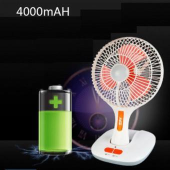 Quạt tích điện kiêm đèn led siêu sáng pin dùng liên tục 6 giờ KM-F0166